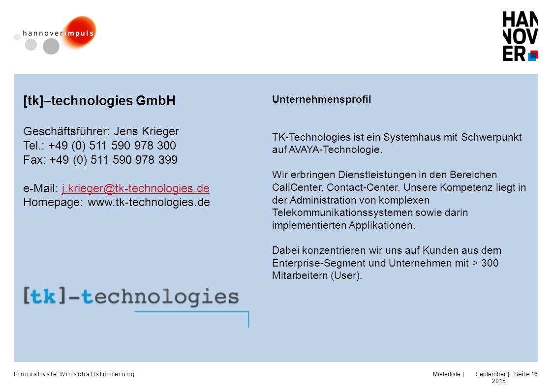 [tk]–technologies GmbH
